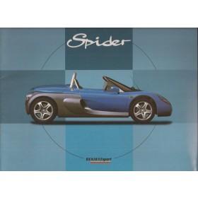 Renault Spider brochure 32 pagina's Benzine Fabrikant oktober 96 met gebruikssporen Frans/Engels