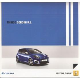 Renault Twingo Gordini RS brochure 6 pagina's Benzine Fabrikant 10 ongebruikt Nederlands