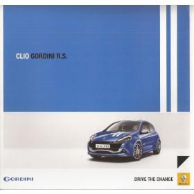 Renault Clio Gordini RS brochure 6 pagina's Benzine Fabrikant 10 ongebruikt Nederlands