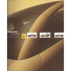 Renault Megane CC brochure 12 pagina's Benzine Fabrikant 03 ongebruikt Nederlands