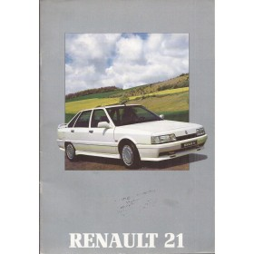 Renault 21 brochure 32 pagina's Benzine/Diesel Fabrikant 1988 ongebruikt Nederlands
