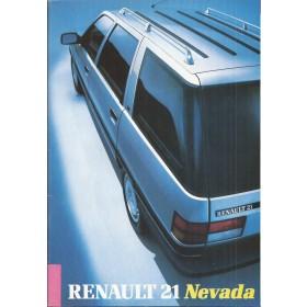 Renault 21 Nevada brochure 28 pagina's Benzine/Diesel Fabrikant 88 ongebruikt Nederlands