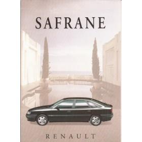 Renault Safrane (ook Biturbo) brochure 6 pagina's Benzine/Diesel Fabrikant 94 ongebruikt Nederlands