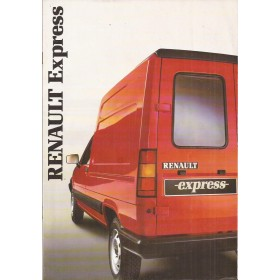 Renault Express brochure 24 pagina's Benzine/Diesel Fabrikant 1986 met gebruikssporen Nederlands
