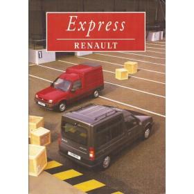 Renault Express brochure 32 pagina's Benzine/Diesel Fabrikant 1996 met gebruikssporen Nederlands