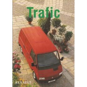 Renault Trafic brochure 20 pagina's Benzine/Diesel Fabrikant 1998 met gebruikssporen Nederlands