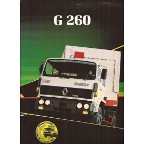 Renault Trucks G260 brochure 8 pagina's Diesel Fabrikant 1983 met gebruikssporen Nederlands