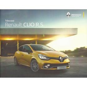 Renault Clio RS brochure 36 pagina's Benzine Fabrikant 2016 ongebruikt Nederlands Renault Sport