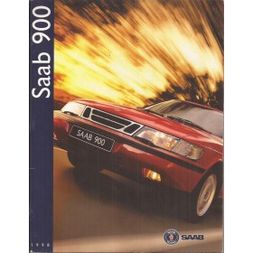Saab 900 brochure 54 pagina's 1998 met gebruikssporen Nederlands