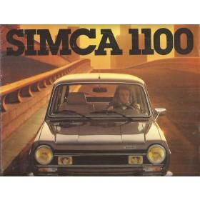 Simca 1100 brochure 12 pagina's 1978 met gebruikssporen Frans