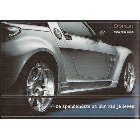Smart Roadster brochure 8 pagina's 2003 met gebruikssporen Nederlands