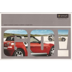 Smart Roadster brochure 40 pagina's 2003 met gebruikssporen Nederlands