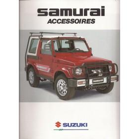 Suzuki Samurai brochure 16 pagina's 1990 met gebruikssporen Nederlands