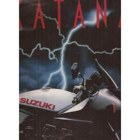 Suzuki Katana brochure 36 pagina's 1981 met gebruikssporen Engels