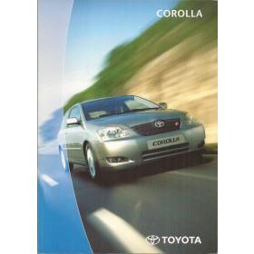 Toyota Corolla Corolla Verso producttraining 2000 met gebruikssporen Nederlands