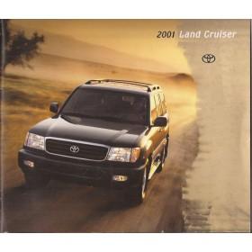 Toyota Land Cruiser brochure 20 pagina's 2001 met gebruikssporen Engels