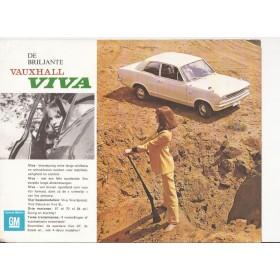 Vauxhall Viva HB brochure 4 pagina's Benzine Fabrikant ca 1968 met gebruikssporen Nederlands