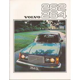 Volvo 262 264 brochure 20 pagina's 1976 met gebruikssporen Engels