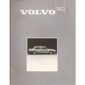 Volvo 740 brochure 36 pagina's 1985 met gebruikssporen Nederlands