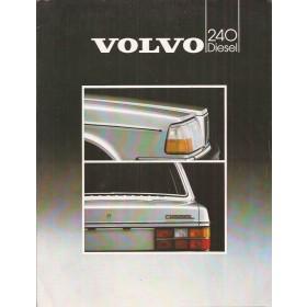 Volvo 240 diesel brochure 6 pagina's 1983 met gebruikssporen Nederlands