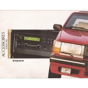 Volvo 740 accessoires brochure 36 pagina's 1988 met gebruikssporen Nederlands