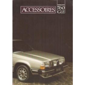 Volvo 760 accessoires brochure 12 pagina's 1982 met gebruikssporen Nederlands