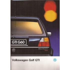 Volkswagen Golf GTi brochure 24 pagina's 1991 met gebruikssporen Nederlands
