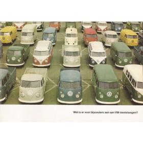 Volkswagen Transporter brochure 20 pagina's 1965 met gebruikssporen Nederlands