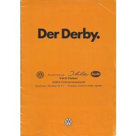 Volkswagen Derby brochure 20 pagina's 1980 met gebruikssporen Duits