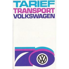 Volkswagen Transporter brochure 10 pagina's 1970 met gebruikssporen Nederlands