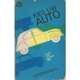 Jaarboek  Alle modellen KNAC Kies uw Auto 1965 met gebruikssporen aantal losse pagina's Nederlands