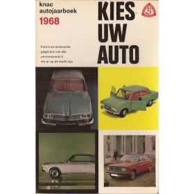 Jaarboek  Alle modellen KNAC Kies uw Auto 1968 met gebruikssporen Nederlands