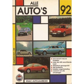 Jaarboek R. van Kempen Alle modellen KNAC Alle Auto's 1992 met gebruikssporen Nederlands