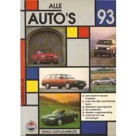 Jaarboek R. van Kempen Alle modellen KNAC Alle Auto's 1993 met gebruikssporen Nederlands