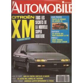 Citroen XM Overdruk Dossier L'Automobile 1990 met gebruikssporen Frans