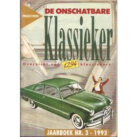 Jaarboek De Onschatbare Klassieker Alle modellen Auto 93 met gebruikssporen   Nederlands