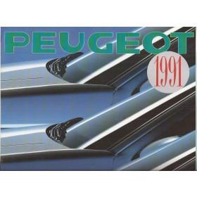 Peugeot Alle Jaarboek Alle modellen Peugeot 1991 met gebruikssporen Nederlands