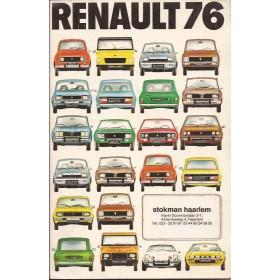 Renault Alle Jaarboek  Alle modellen Renault 76 met gebruikssporen Nederlands