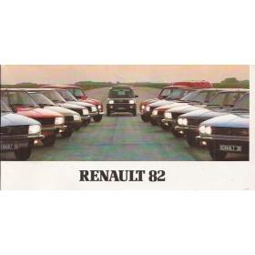 Renault Alle Jaarboek Alle modellen Renault 1982 met gebruikssporen Nederlands