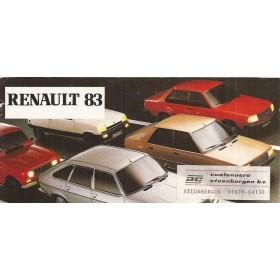 Renault Alle Jaarboek Alle modellen Renault 1983 met gebruikssporen achterkaft ontbreekt Nederlands