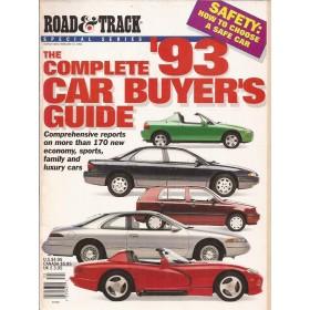 Jaarboek Diverse Road&Track Car Buyers Guide 93 met gebruikssporen Engels