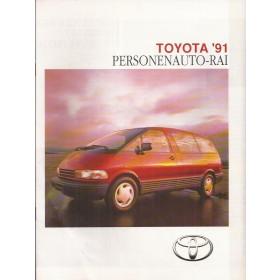 Toyota Alle Jaarboek RAI-gids Alle modellen Toyota 1991 met gebruikssporen Nederlands